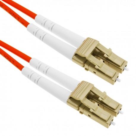 Cable de fibra óptica LC/PC a LC/PC multimodo duplex 50/125 de 100m OM2