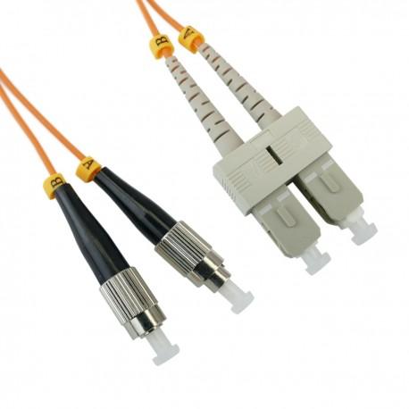 Cable de fibra óptica FC a SC multimodo duplex 62.5/125 de 5 m