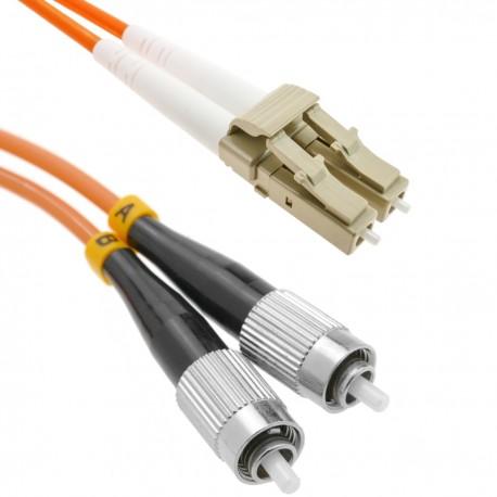 Cable de fibra óptica FC a LC multimodo duplex 62.5/125 de 2 m