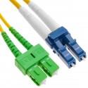 Cable de fibra óptica LC/PC a SC/APC monomodo duplex 9/125 de 10 m OS2