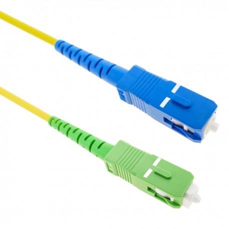Cable de fibra óptica SC/PC a SC/APC monomodo simplex 9/125 de 20 m OS2