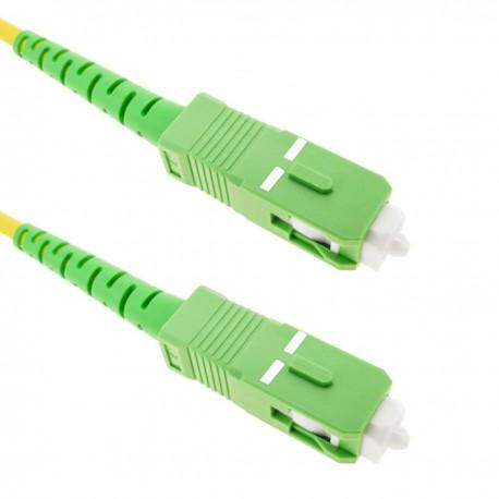 Cable de fibra óptica SC/APC a SC/APC monomodo simplex 9/125 de 50 cm OS2