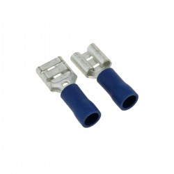 Terminal Faston Hembra Azul (4.8mm) 100 Pack