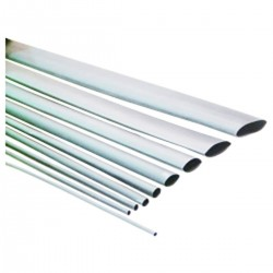 Tubo termoretráctil blanco de 6,4mm en bobina de 3m