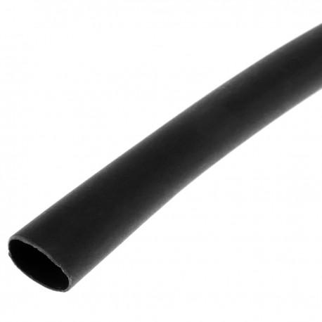 Tubo termoretráctil negro de 9,5mm en bobina de 3m