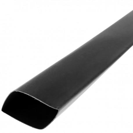 Tubo termoretráctil negro de 25,4mm en bobina de 3m