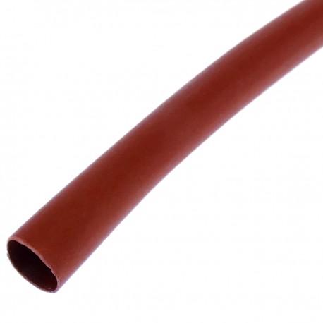 Tubo termoretráctil rojo de 6,4mm en bobina de 3m