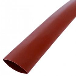 Tubo termoretráctil rojo de 9,5mm en bobina de 3m