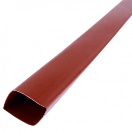 Tubo termoretráctil rojo de 19,1mm en bobina de 3m