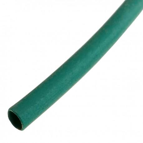 Tubo termoretráctil verde de 1,6mm en bobina de 3m
