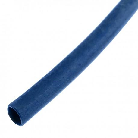 Tubo termoretráctil azul de 1,6mm en bobina de 3m