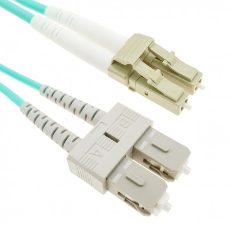 Cable de fibra óptica OM4 multimodo MMF duplex 50µm/125µm LC-SC de 1m
