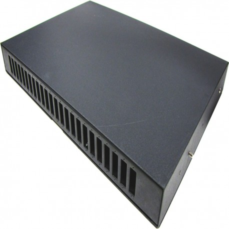 Patch Panel de fibra óptica 1U negro extraíble de 24 SC duplex