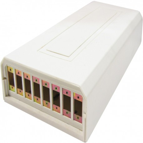 Caja de terminales de fibra óptica plástico beige de 8 SC