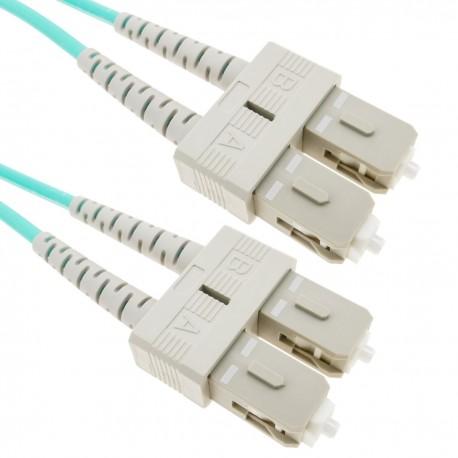 Cable OM3 de fibra óptica SC a SC multimodo duplex 50/125 de 1m