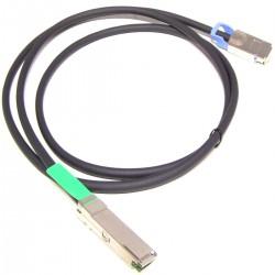Cable QSFP+ SFF-8436 a CX4 SFF-8470 de 10 Gigabit de 2m