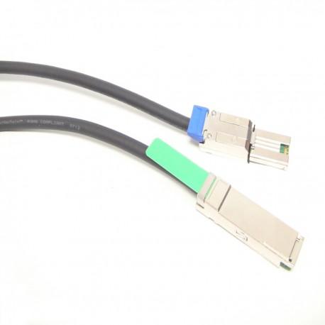 Cable QSFP+ SFF-8436 a MiniSAS SFF-8088 de 1m