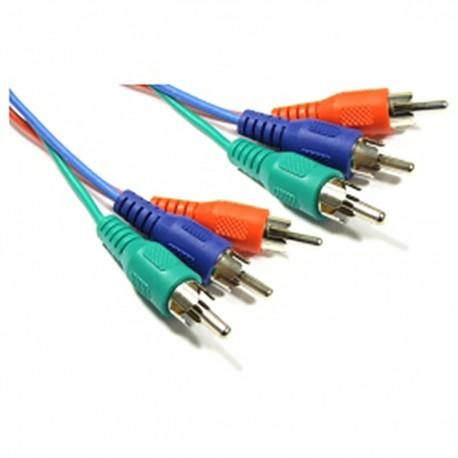 Cable Vídeo RGB 3xRCA (M/M) 1.8m