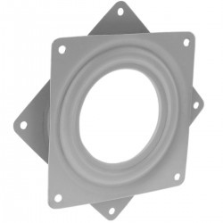 Base giratoria manual de 94x94mm y 10Kg de carga. Plataforma de rotación