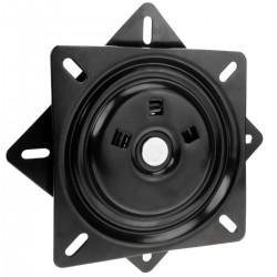 Base giratoria manual 196x196mm y 100Kg de carga. Plataforma rotación 90 grados retorno automático