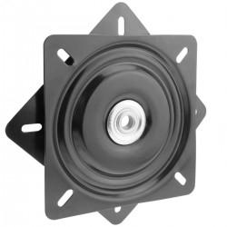 Base giratoria manual de 195x195mm y 100Kg de carga. Plataforma de rotación