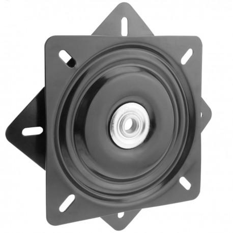 Base giratoria manual de 246x246mm y 150Kg de carga. Plataforma de rotación