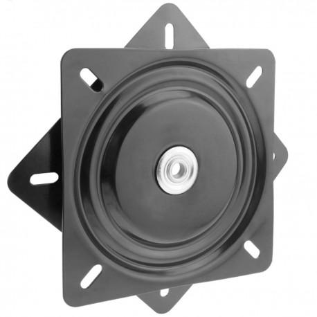 Base giratoria manual de 290x290mm y 200Kg de carga. Plataforma de rotación