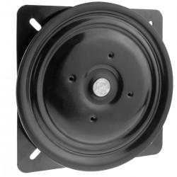 Base giratoria manual de 258mm 245x245mm y 200Kg de carga. Plataforma de rotación