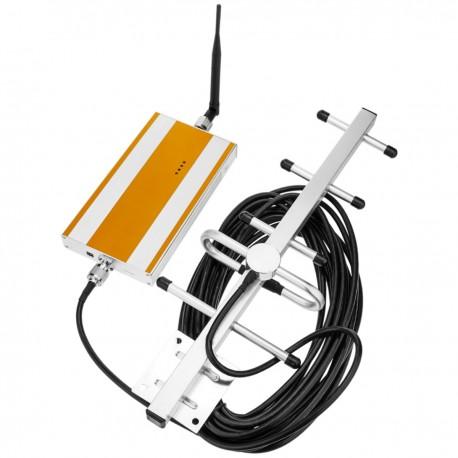 Repetidor con amplificador GSM 900MHz 80dB con antenas y cable 5m