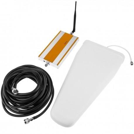 Repetidor amplificador GSM 1800MHz 70dB con antenas y cable 5m