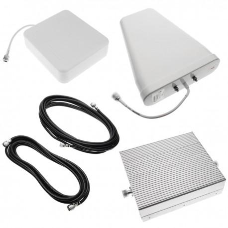 Repetidor amplificador GSM 3G 900MHz 2100MHz 70dB con antenas y cable 5m
