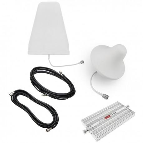 Repetidor amplificador 4G LTE 800MHz 75dB con antenas y cables