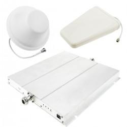 Repetidor amplificador GSM 3G 900MHz 1800MHz 2100MHz 75dB con antenas y cables