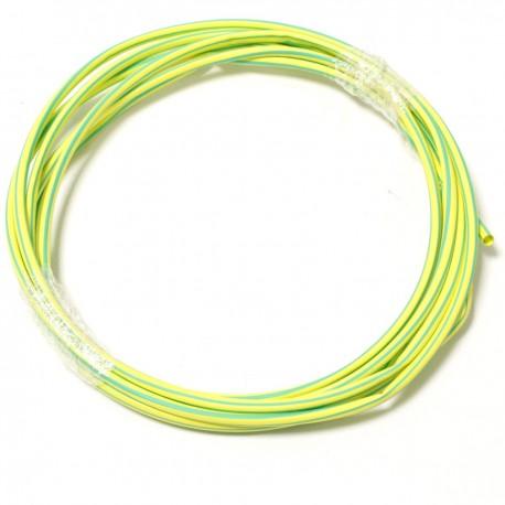 Tubo termoretr ctil 3:1 LSHF amarillo-verde de 4,8mm bobina 3m