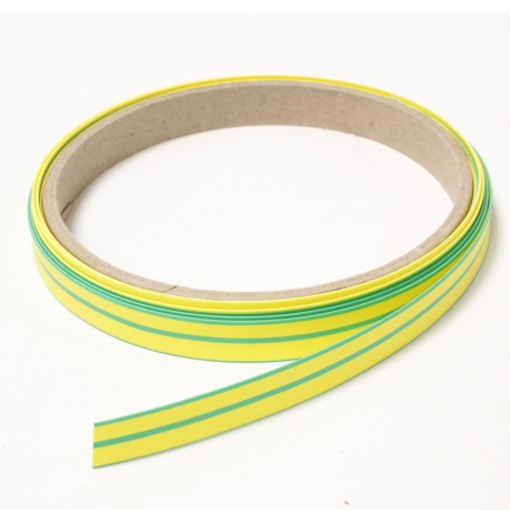Tubo termoretr ctil 3:1 LSHF amarillo-verde de 9,5mm bobina 3m