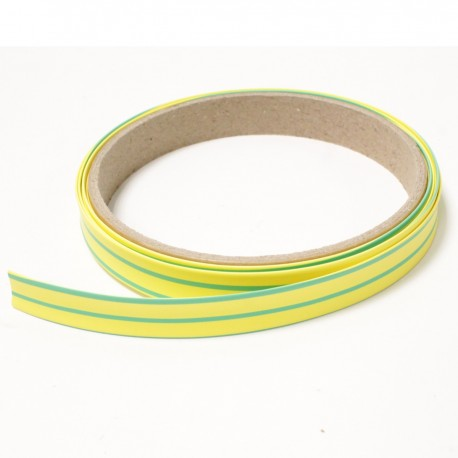 Tubo termoretr ctil 3:1 LSHF amarillo-verde de 12,7mm bobina 3m