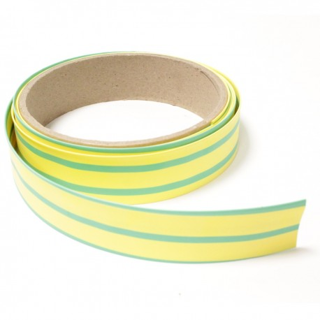 Tubo termoretr ctil 3:1 LSHF amarillo-verde de 25,4mm bobina 3m