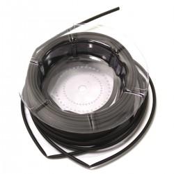 Tubo termoretráctil negro de 3,2 mm en bobina de 15 m