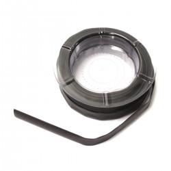 Tubo termoretráctil negro de 12,0 mm en bobina de 8 m