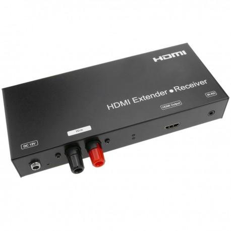 Extensor HDMI Prolongador FullHD 1080p a través de cable 2 hilos a 3800m - Receptor