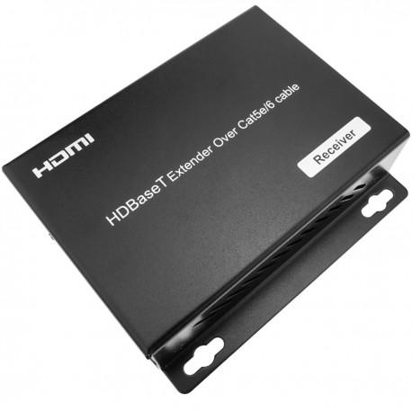 Extensor HDMI UltraHD 4K 2K FullHD 1080p Cat.5e Cat.6 HDBaseT HDBT POC 100m - Receptor