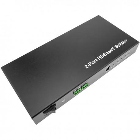 Extensor HDMI UltraHD 4K 2K FullHD 1080p Cat.5e Cat.6 HDBaseT HDBT 100m - Transmisor 2 puertos