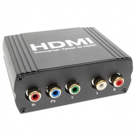 Conversor RGB YPbPr con audio a HDMI (5 RCA a 1 HDMI)
