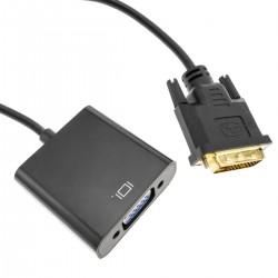 Conversor DVI-D a VGA en cable de 15 cm
