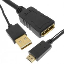 Conversor de puerto de salida HDMI a puerto de salida DisplayPort 1080p FullHD 2K 4K