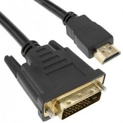 Cable HDMI de tipo HDMI-A macho a DVI-D macho de 1 m