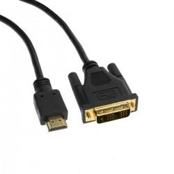 Cable HDMI de tipo HDMI-A macho a DVI-D macho de 3 m