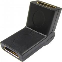 Adaptador HDMI acodable de tipo HDMI-A hembra a HDMI-A hembra
