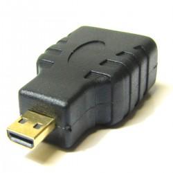 Adaptador HDMI de HDMI tipo A hembra a micro HDMI tipo D macho
