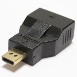 Adaptador HDMI de tipo HDMI-C hembra a HDMI-D macho